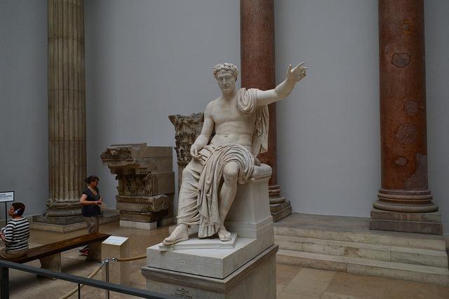 Pergamon Museum, Berlin: 2nd century statue of Roman emperor Claudius. - Photo by Ptwo / Flickr