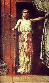 Queen Clytemnestra – After the murder (1882) artist John Collier (1850–1934) Guildhall Art Gallery (London)