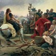 In the years 58–51 B.C. Gaul was conquered and added to the Roman state. For the first time in history tribal groups in North-western Europe were confronted with the violent expansion of an empire.