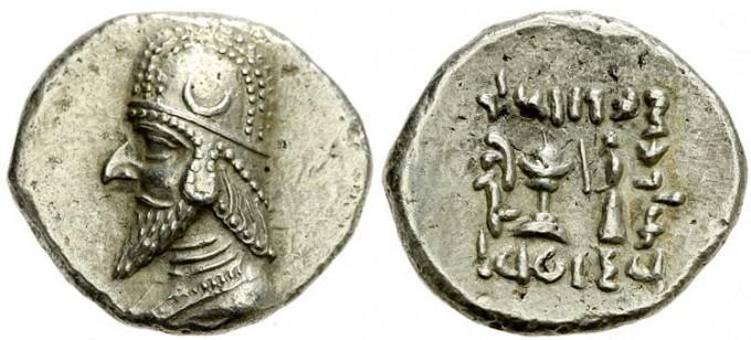 Silver drachma of king Darius II - photo by  dynamosquito / Wikipedia